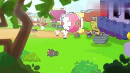 喜羊羊与灰太狼懒洋洋质疑灰太狼开车技术都把花花草草都撞坏了