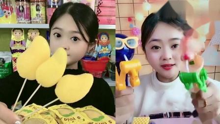 萌姐吃播:芒果小盘子棒棒糖神器,一口超过瘾
