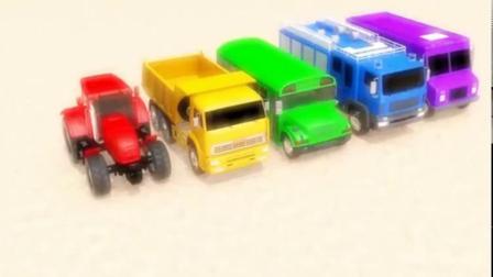 搞笑汽车玩具:多辆小汽车参加挑战活动获得美味冰淇淋