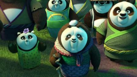 功夫熊猫:神龙大侠回归熊猫村,国宝待的地方就是好!这段太搞笑