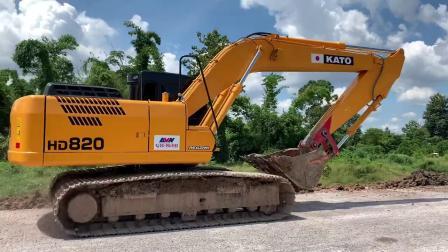 挖掘机 加滕HD820杠5