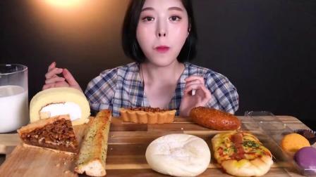 【美女爱吃播】韩国吃播Boki美女吃甜点一口两个马卡龙