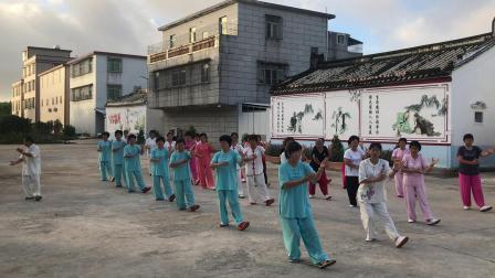 杨式二十四式太极拳:陈老师等组合:陇头新南广场