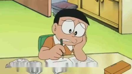 哆啦A梦,大雄主动写作业,还给小哆啦买铜锣烧这个道具真带劲.