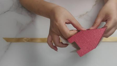 三角形钻石喜糖盒折叠视频