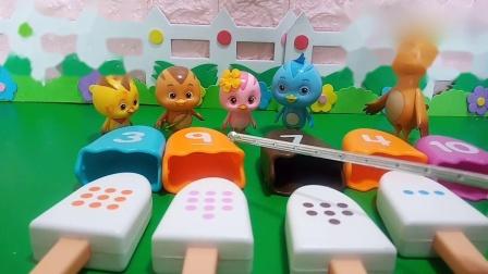 趣味玩具:鸡妈妈给大家发了一份雪糕吃