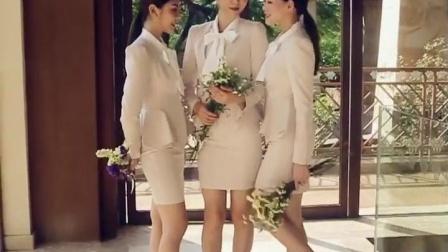 2020新款时尚工作服女套装气质职业修身美容师服装