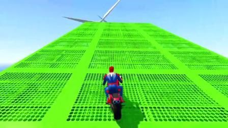 GTA5:蜘蛛侠,金刚狼,绿巨人和美国队长在公园玩五彩个性摩托车