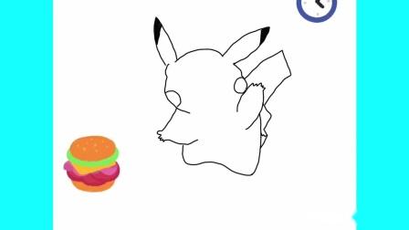 艺言手绘,我们一起学简笔画,教你如何画卡通人物可爱的皮卡丘