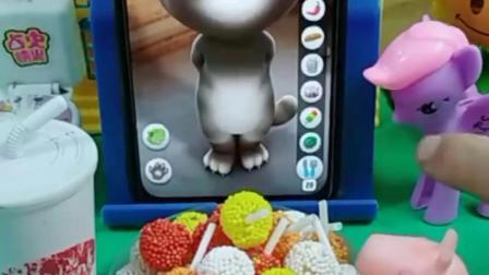 乔治的汤姆猫真贪吃,和乔治一样爱吃,酸奶糖果一样都少不了!