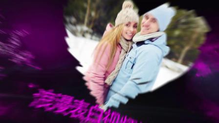 紫色粒子浪漫情人节表白视频