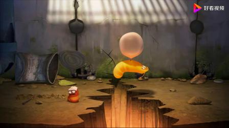 爆笑虫子:发生地震了,小红和小黄利用泡泡糖,上演机智逃生!