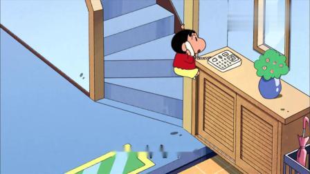 蜡笔小新:美冴在忙,小新担起哥哥的责任,要给小葵换尿布