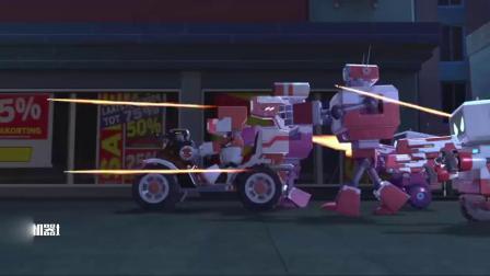 赛尔号大电影7:疯狂机器城:阿铁打帅气对战疯狂机器人!酷了