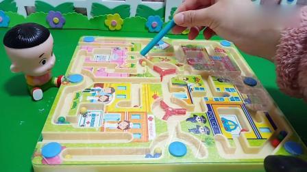 乔治佩奇玩具:这个迷宫没有难住大头