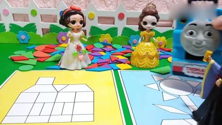 乔治佩奇玩具:贝儿和白雪比赛,谁会赢呢