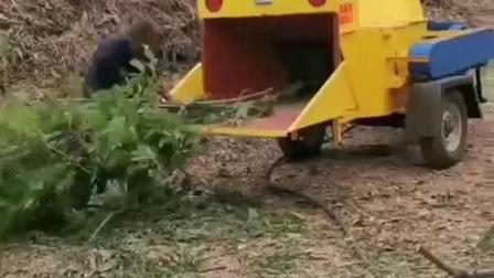 园林小区绿化专用移动树枝粉碎机树叶树干柳条碎枝机