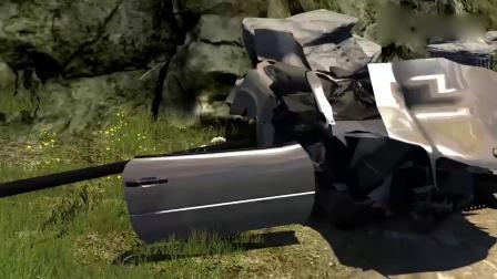 车祸模拟:兰博基尼开足马力飞跃超大英伟达显卡,画面太酸爽啦