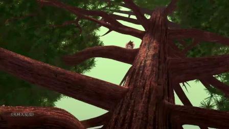 丛林大反攻:棕熊块头大,实力超级差,被小松鼠打趴下