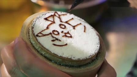 手绘皮卡丘美味蛋糕让孩子看到了不得了超级好吃