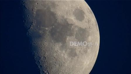 歌曲配乐 f914 一轮弯月月球表面特写月牙上升唯美月色月景夜空实拍夜色中国风LED视频后期合成制作素材 背景视频