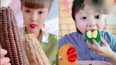 小姐姐直播吃:玉米冰榴莲果冻,各种口味任她们选,是向往的生活