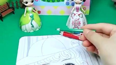白雪公主有新的彩妆画,画出了漂亮的小姑娘,贝尔羡慕极了!