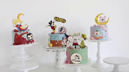 卡通蛋糕展示