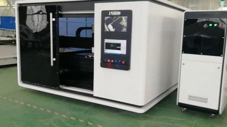 领秀激光LXFC1530大包围1000W光纤激光切割机切割1.3mm不锈钢金属板