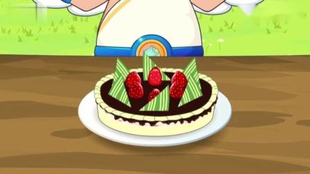 """喜洋洋与灰太狼:族长居然是这样""""切蛋糕""""的,喜洋洋一脸嫌弃"""