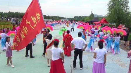 桦悦广场健身秧歌队表演秧歌
