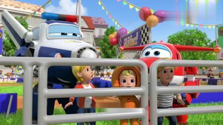 超级飞侠:小猪们都不比赛了,跑到快餐车上把姜饼都给吃光了