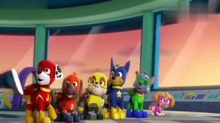 汪汪队:狗狗们都化妆成为超人,一起出动救援,真是勇敢的汪汪队
