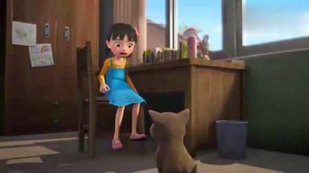 天天成长记:天天有小狗了,真是开心,还能来个摸头杀!
