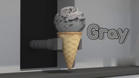 迷你特工队:麦克斯吃了灰棕橙三色冰激凌,很开心