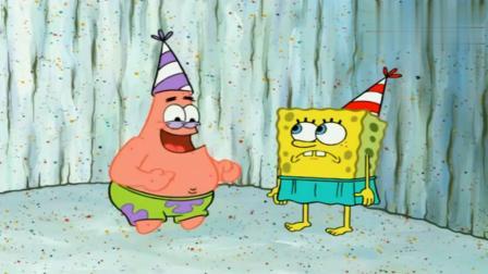 海绵宝宝送礼物,将蛋糕拿错,派大星却不嫌弃