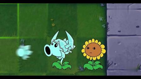 植物大战僵尸:寒冰豌豆射手大战光头僵尸铁桶僵尸,巨人寒冰射手大战