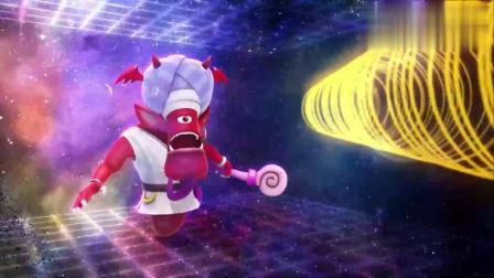猪猪侠:怪物中计了,猪猪侠赶紧把魔瓶抢过去,竟捏碎了