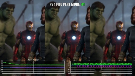 《漫威复联》B测PS4 Pro对比PS4帧数
