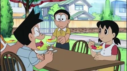 哆啦A梦:大雄用冰棍,竟把铜锣烧变成冰激凌,轻松得到人间美味