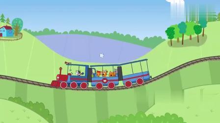 咪好一家:火车进了隧道,黑乎乎的,布丁的帽子不见了
