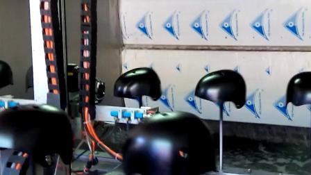 蜡烛喷漆机 小型自动喷漆机  玻璃蜡烛杯环形线喷涂自动化设备 蜡烛杯怎么在线喷涂产值更高
