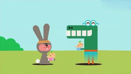 嗨道奇:阿奇与孩子们做蛋糕给兔子,还是胡萝卜蛋糕,看起来真酷