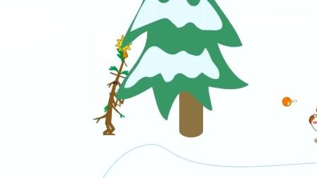 儿童卡通片:萌萌哒小羊布置圣诞树