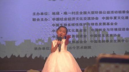 许颂在第十届中国环保之星选拔赛启动仪式上演唱的《候鸟》