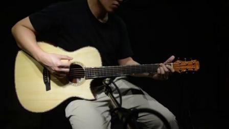 美诗特吉他Maestro十五周年纪念款VILY阿迪云杉荔枝木背侧音色试听