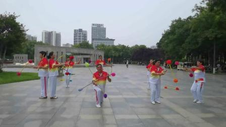 焦作山阳区老年体协艺术团-花棍表演