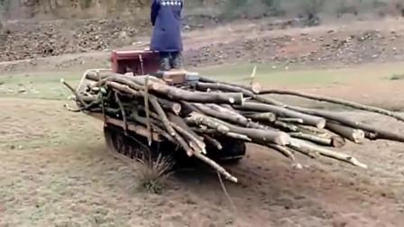 农村牛人改装的拉柴火汽车,这要是被有关部门知道,会不会告他非法组装?