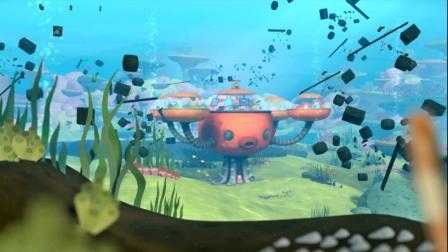 海底小纵队:这些海豚们来玩了,可是垃圾堆要过来了,很危险的!