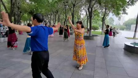 焦作麦西来甫舞蹈团-心语与舞安对舞-2